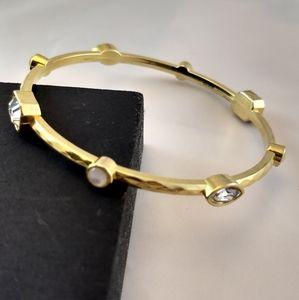 Crystal Rhinestone Gold Bangle Bracelet